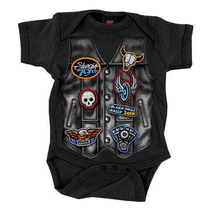 LEATHER VEST OFFICIAL STURGIS 2019  BOYS - TODDLER COTTON ONESIE