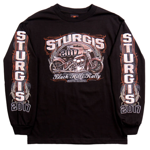 STURGIS 2017 - LS RUSTY BIKE PIN UP - DOUBLE SIDED - BLACK