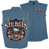GSSI FREEDOM EAGLE DN DS - STURGIS - DENIM CUT-OFF
