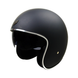 SHADOW OPEN FACE MATT BLACK - OPEN FACE WITH INNER VISOR