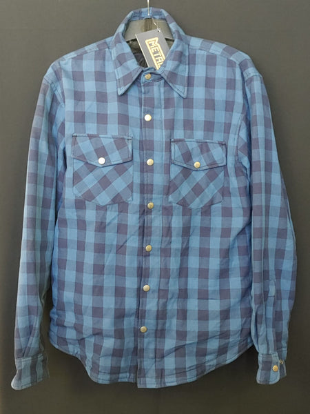 METALIZE 809 TECH REINFORCED FLANNEL SHIRT - NAVY BLUE