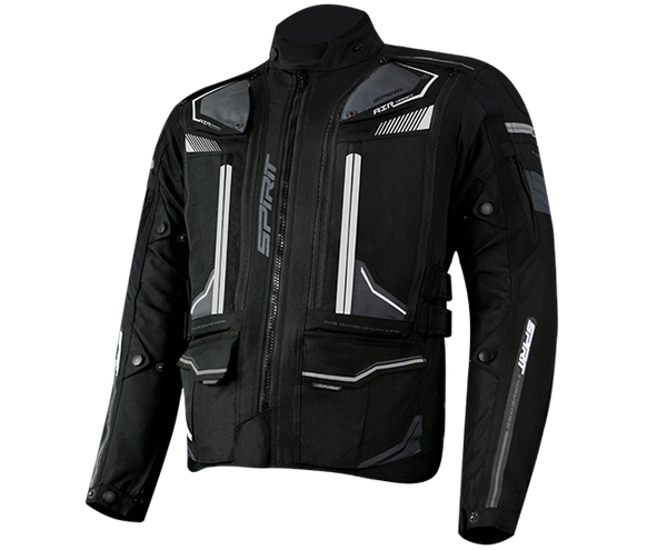 SPIRIT 600D POLYESTER BALLISTIC TEXTILE - TRAVERSE JACKET BLACK/GREY