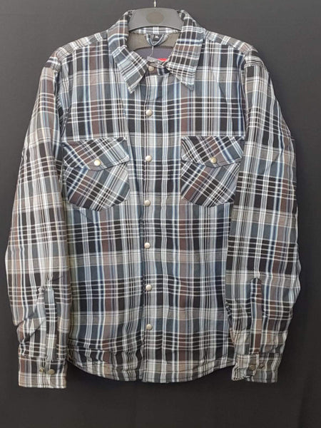 METALIZE 809 TECH REINFORCED FLANNEL SHIRT - BLUE/WHITE