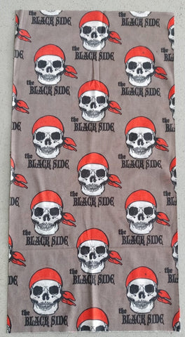 "BUFF2/FACE MASK/NECK WARMER - PIRATE SKULL ""THE BLACK"" - GREY"