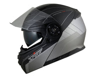 STR FLIP UP HELMET / BLACK-SILVER