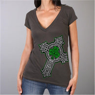 CELTIC CROSS SHAMROCK T-SHIRT
