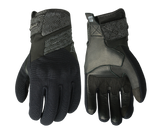 SPIRIT LOTUS LADY GLOVES - LEATHER/TEXTILE - BLACK