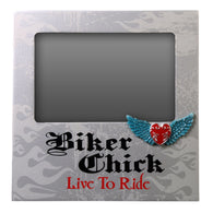 BIKER CHICK - PICTURE FRAME