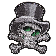 TOP HAT CROSS BONES PATCH