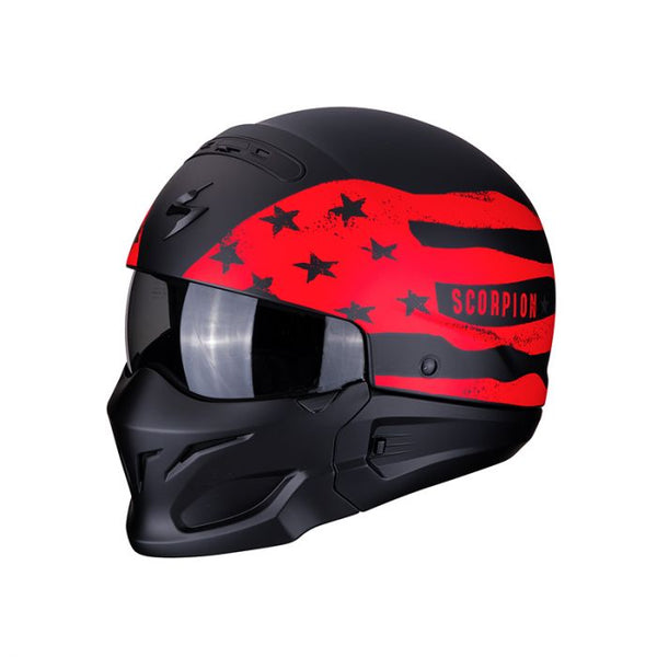 SCORPION EXO COMBAT ROOKIE / BLACK-RED / 3 IN 1 HELMET