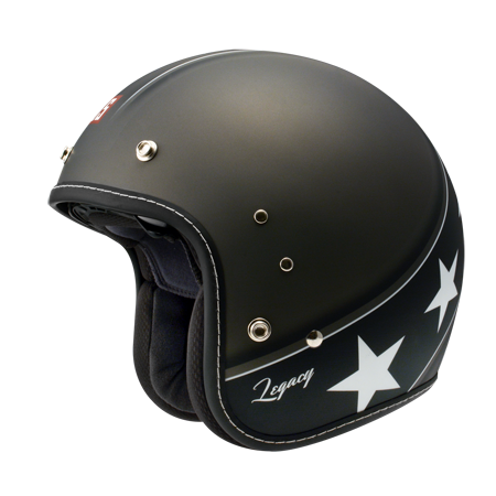 ZEUS OPEN FACE - DARK GREY-BLACK STARS - HELMET