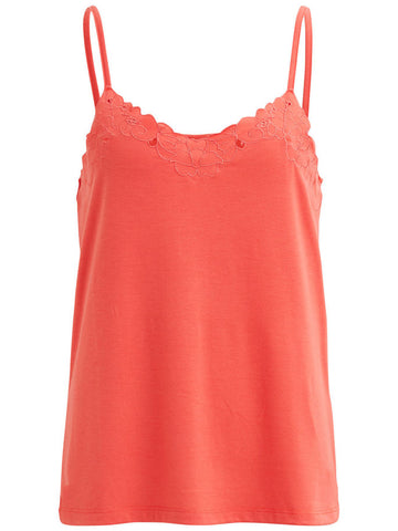 Top Viann Coral de Vila Clothes
