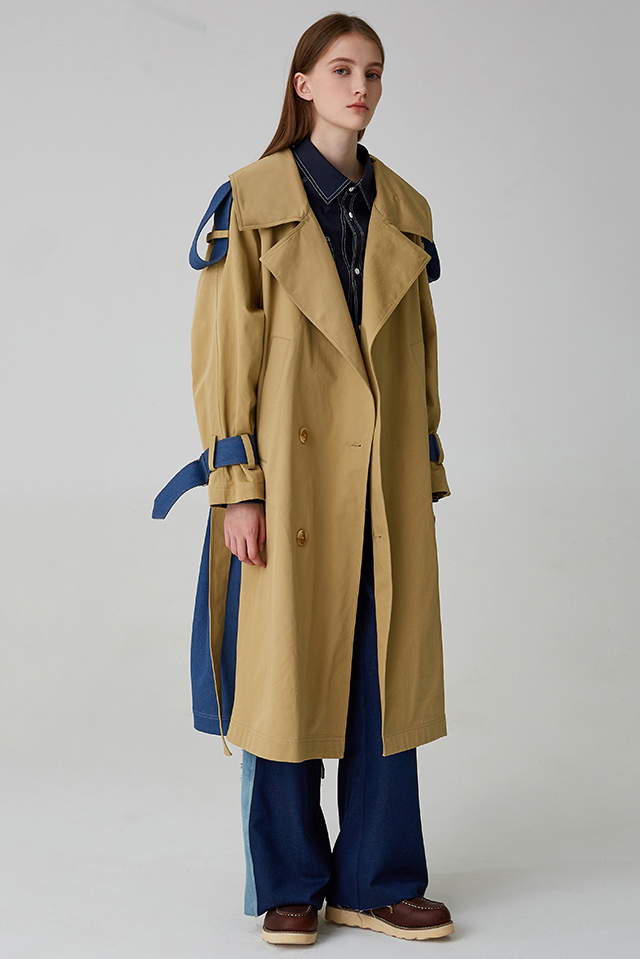 WOMEN LONG TRENCHCOAT