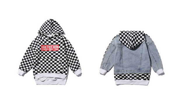 BOYS CHECKERED SWEATSHIRT