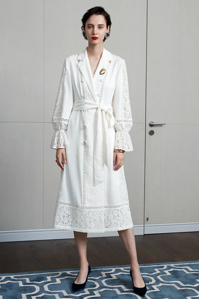 LONG LACE TRENCHCOAT