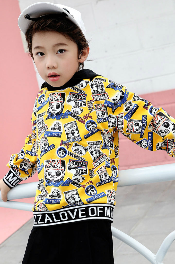 BOY PRINGT SWEATSHIRT