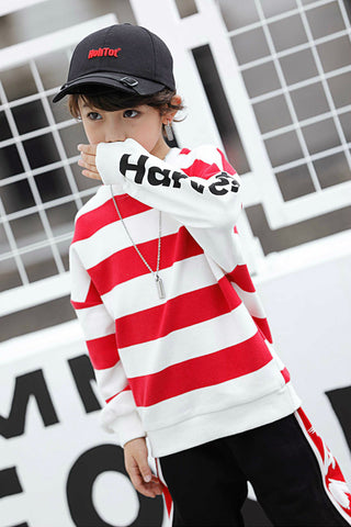 BOY STRIPE SWEATSHIRT