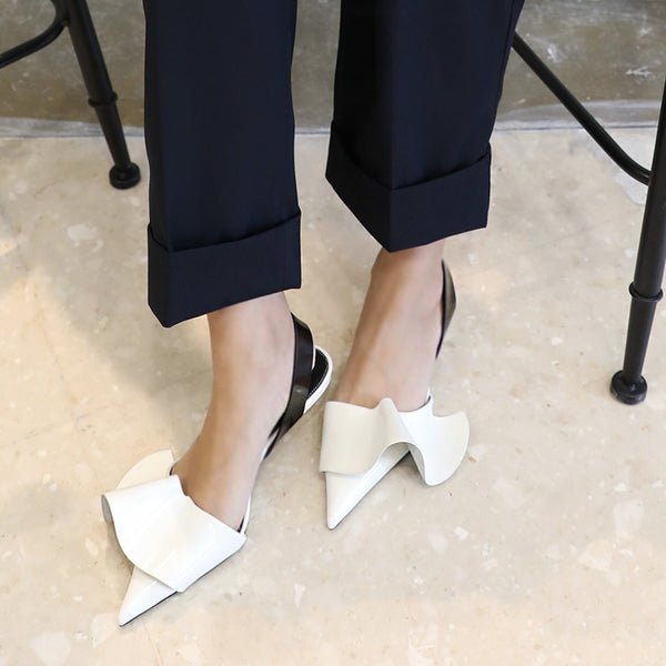SLINGBACK SHOES WITH RUFFLES