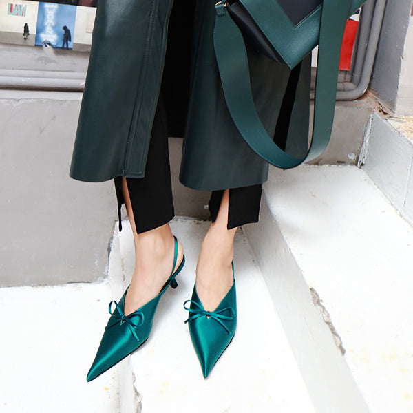 SILNGBACK PUMPS WITH BOW