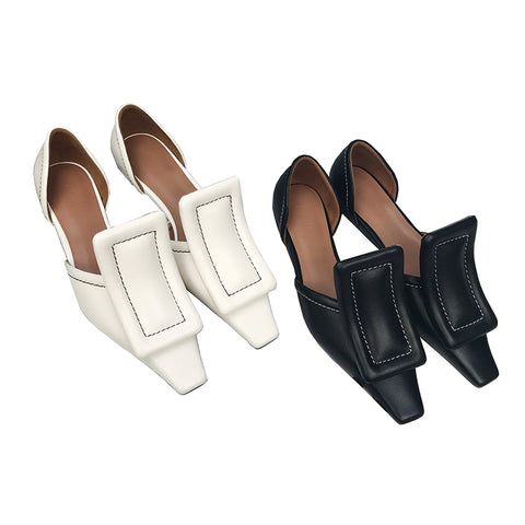 WOMEN LEATHER FLAT