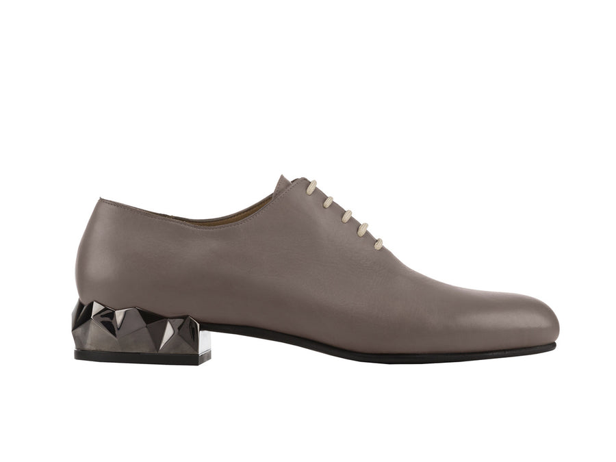 Alexis Grey Leather Oxford