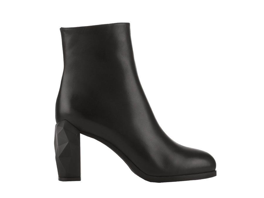 Bakko Black Nappa Leather ankle boots side view