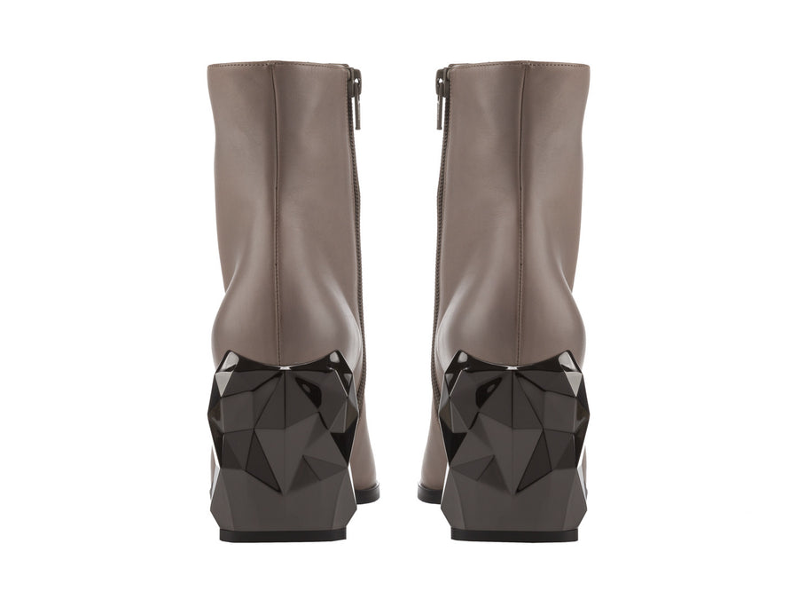 Bakko Grey Nappa Leather ankle boots side view