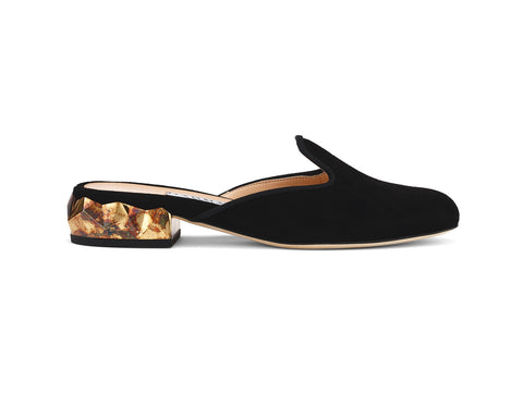 Ren Luxe suede leather luxury Slippers  side view