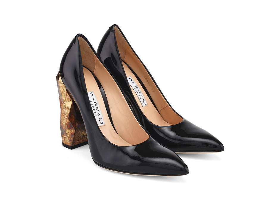 Chanda Patent Leather Pumps angle view