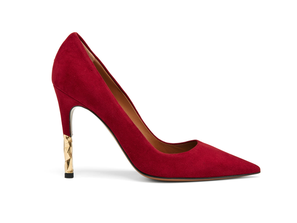 Rene Burgundy Suede Pumps