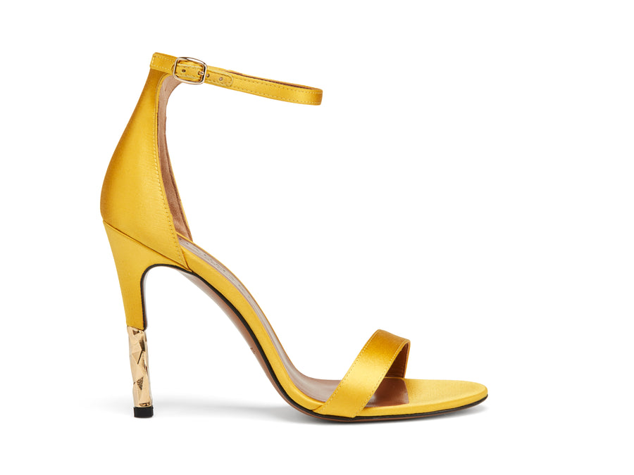 Lucian Yellow Satin Stilletto Pump
