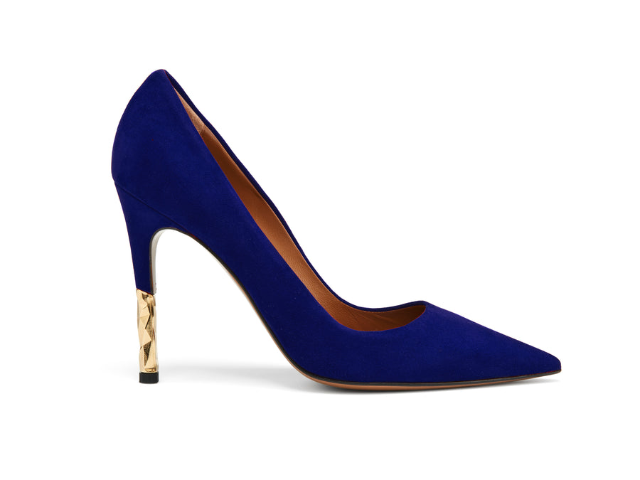 Rene Midnight Blue Suede Stiletto Pump