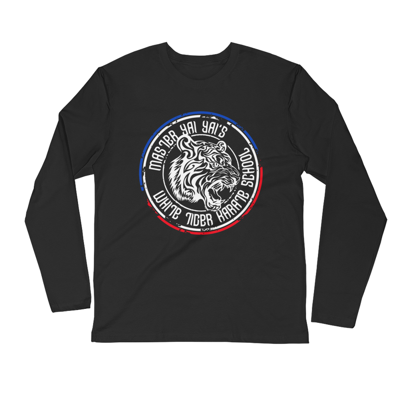 "Men's ""White Tiger"" Master Yai Yai Long Sleeve Fitted Tee from Michelle Waterson"