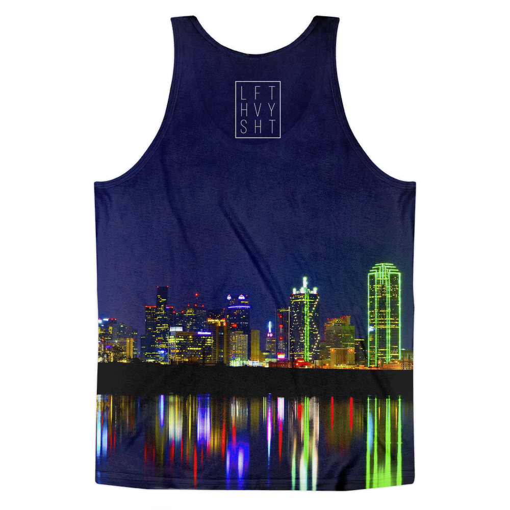 Dallas Skyline Men's Tank Top - Lift Heavy Apparel - 2