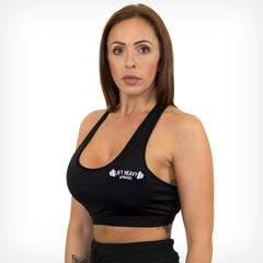 Crossback Performance Sports Bra Black Lift Heavy Apparel
