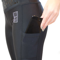 Signature 2.0 Women's Black & Mesh Leggings Lift Heavy Apparel