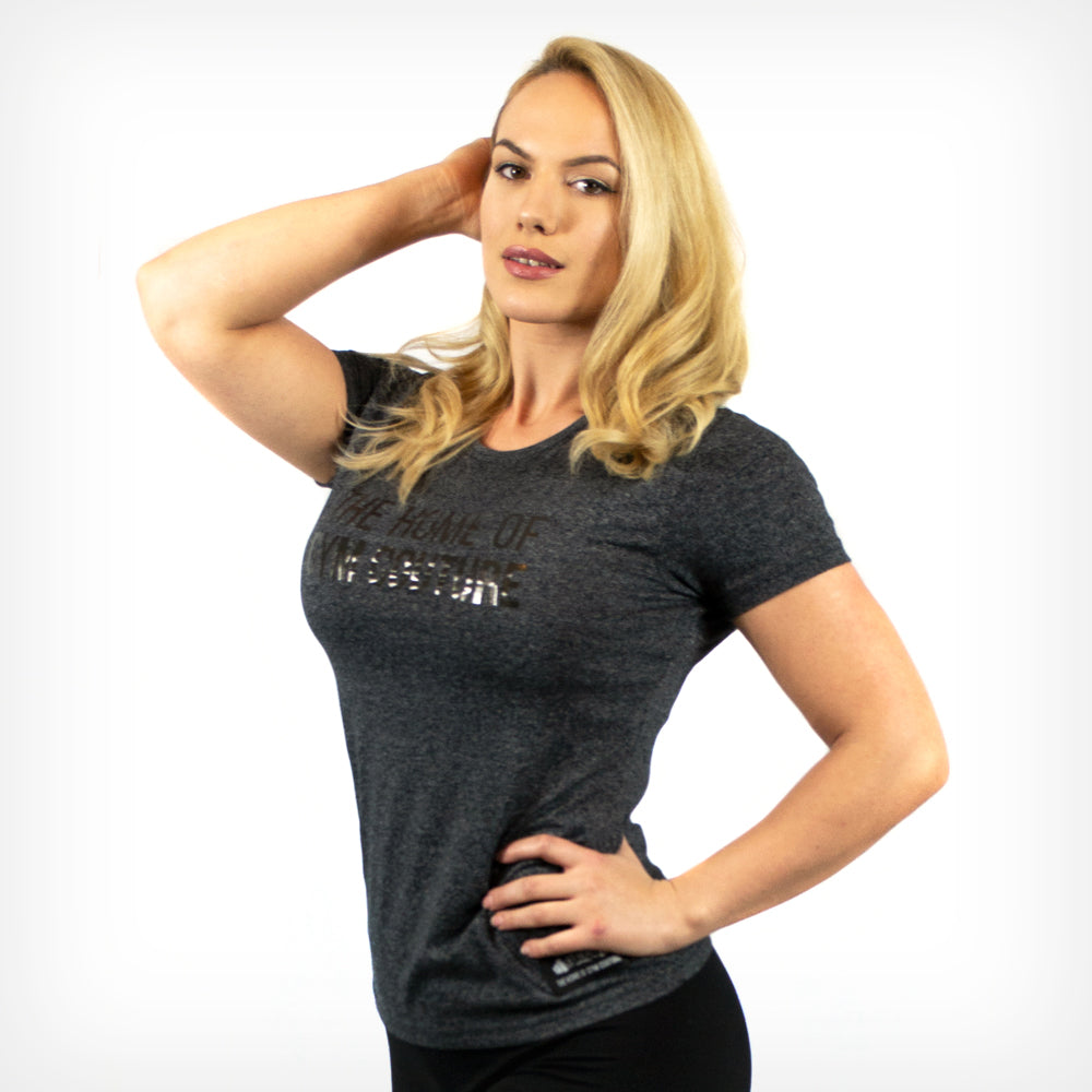 Women's Platinum Gym Couture T-Shirt Lift Heavy Apparel