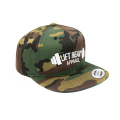 Green Camo Snapback Lift Heavy Apparel