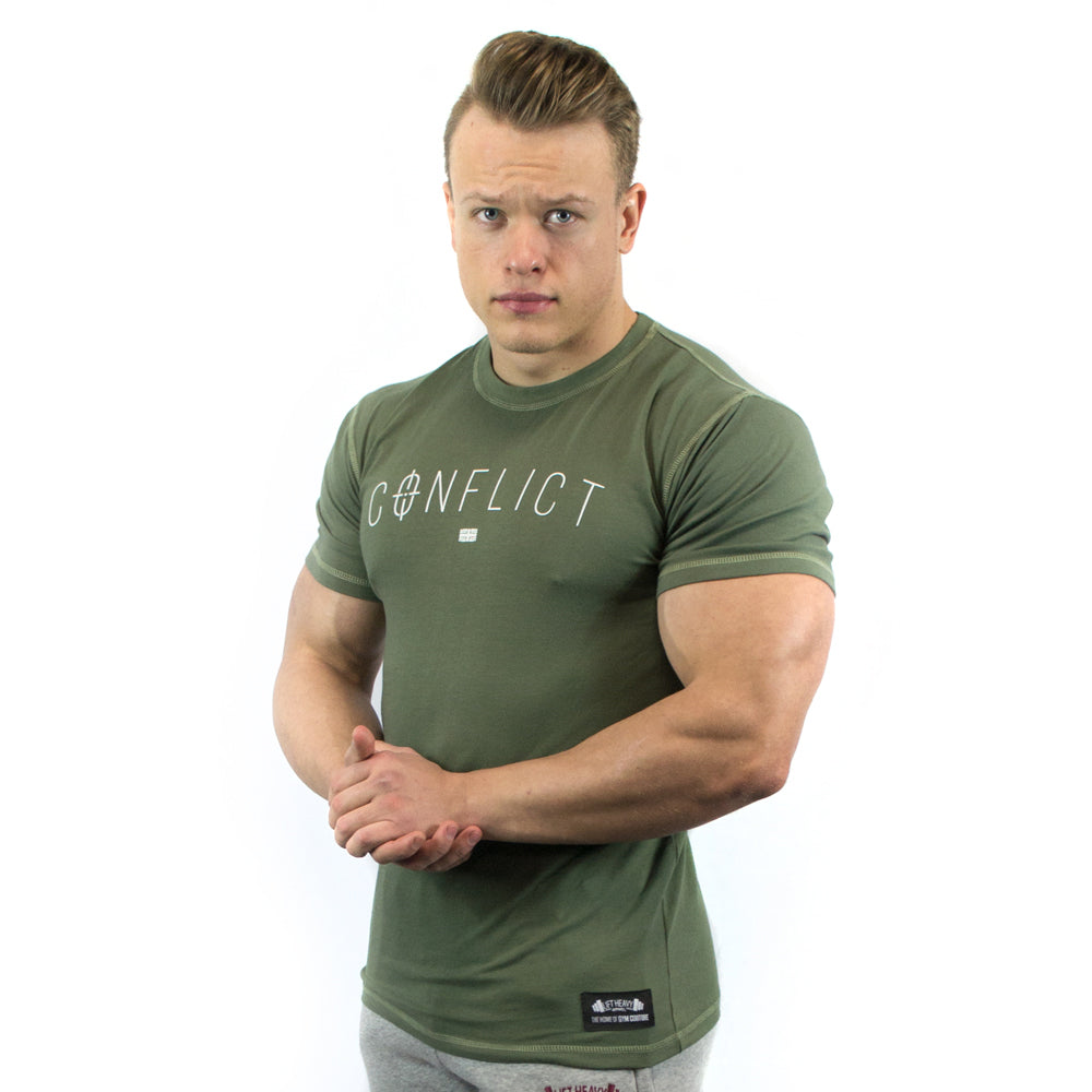 Conflict Men's T-Shirt Lift Heavy Apparel