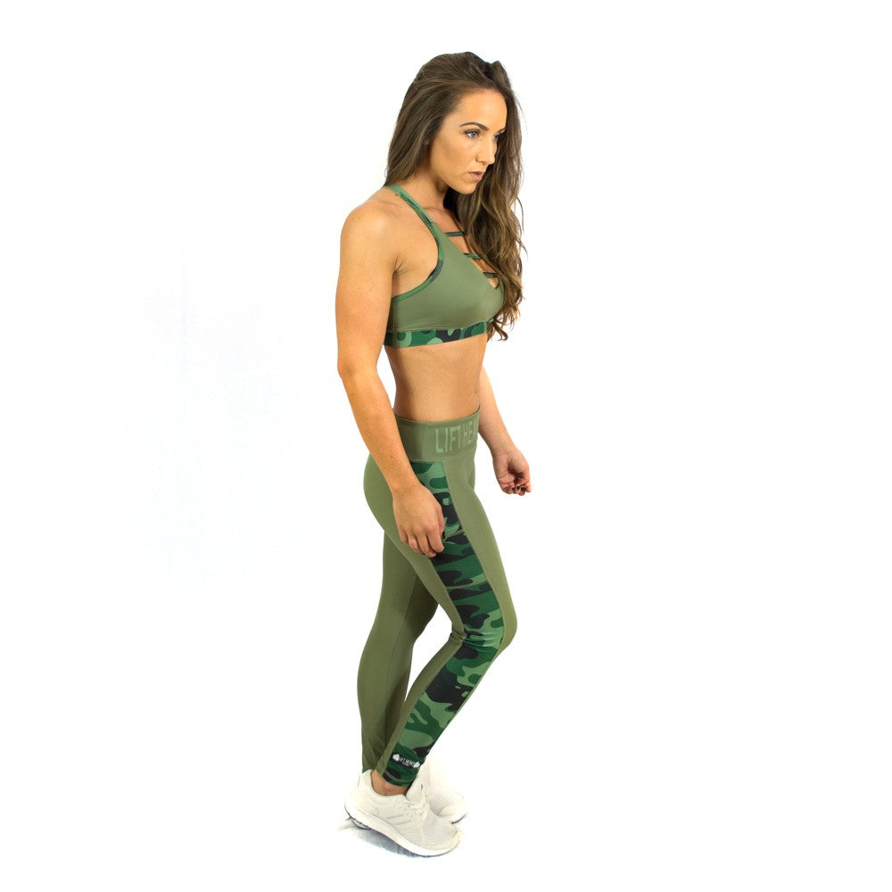 Conflict Leggings & Sports Bra Set with FREE VEST or CROP TOP from Lift Heavy Apparel