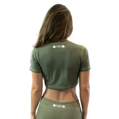 Conflict Women's Crop Top Lift Heavy Apparel