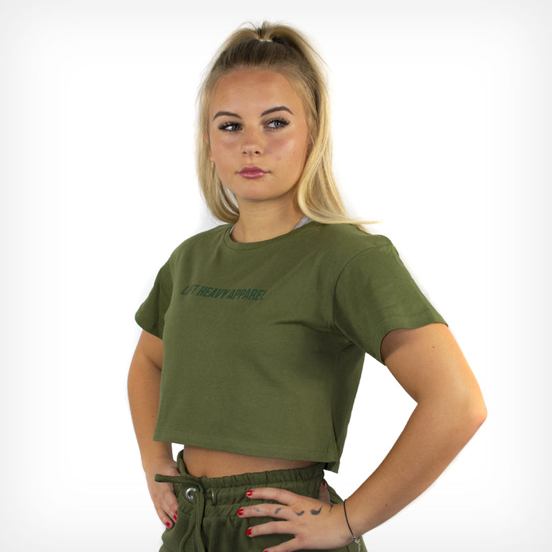 Women's Originals Cropped Tee Olive Green