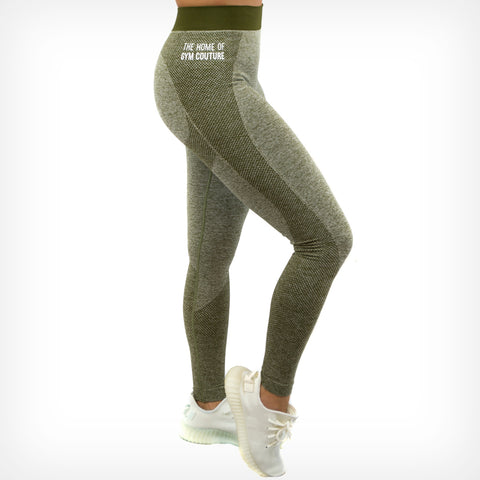 Seamless Leggings Olive Green Lift Heavy Apparel