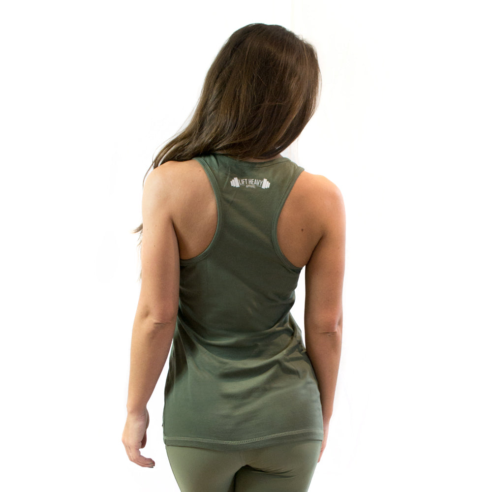 Conflict women's racerback gym vest Lift Heavy Apparel