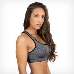 High Impact Zip Front Sports Bra Lift Heavy Apparel