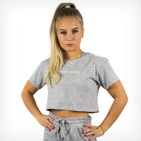 Women's Originals Cropped Tee Sport Grey