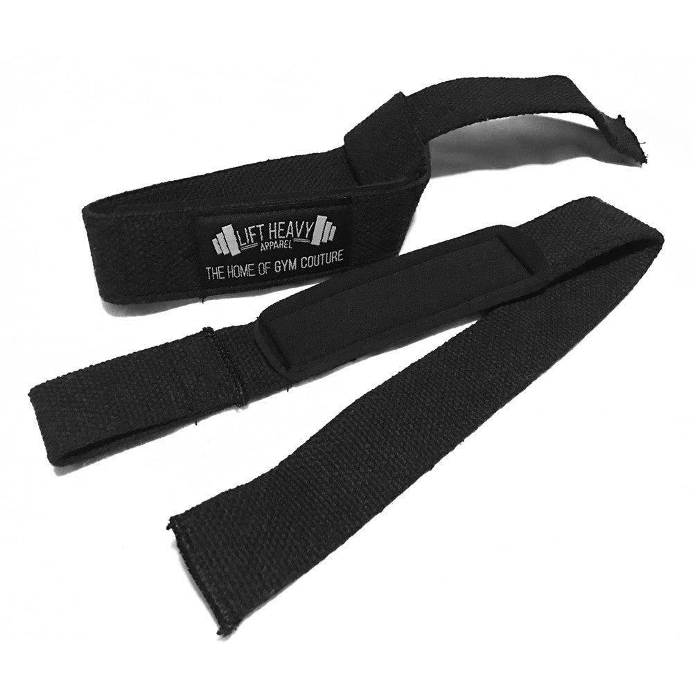 Black HD Padded Lifting Straps Lift Heavy Apparel