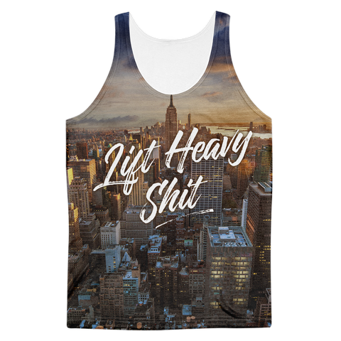 New York City Skyline Men's Tank Top - Lift Heavy Apparel - 1