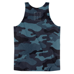 Blue Camo Men's Tank Top - Lift Heavy Apparel - 2