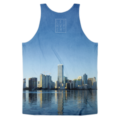 Miami Skyline Men's Tank Top - Lift Heavy Apparel - 2